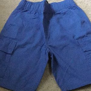 Children's Place blue pull on cargo shorts. NWT